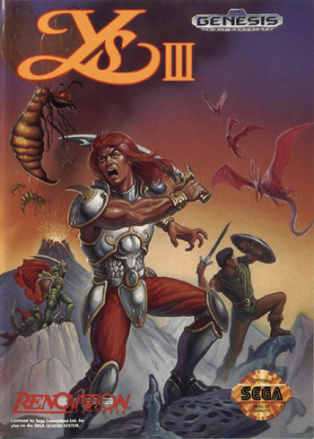 Ys III Sega Genesis cover artwork