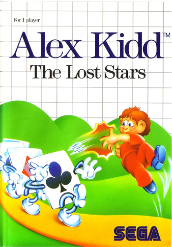 Alex Kidd - The Lost Stars Sega Master System cover artwork