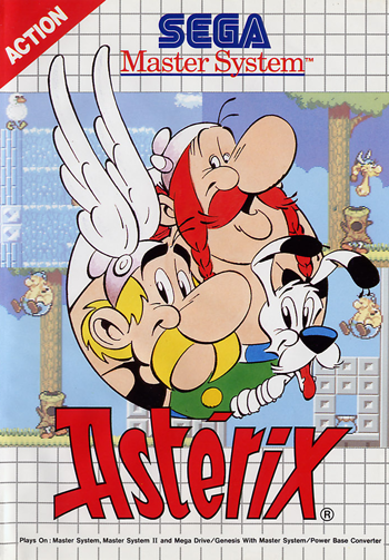 Asterix Sega Master System cover artwork