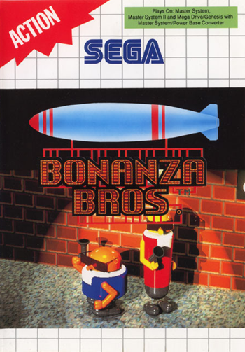 Bonanza Bros. Sega Master System cover artwork