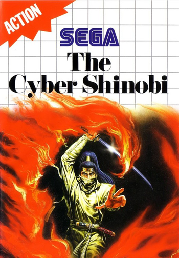 Cyber Shinobi, The Sega Master System cover artwork