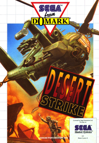 Desert Strike Sega Master System cover artwork