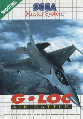 G-LOC Air Battle Sega Master System cover artwork