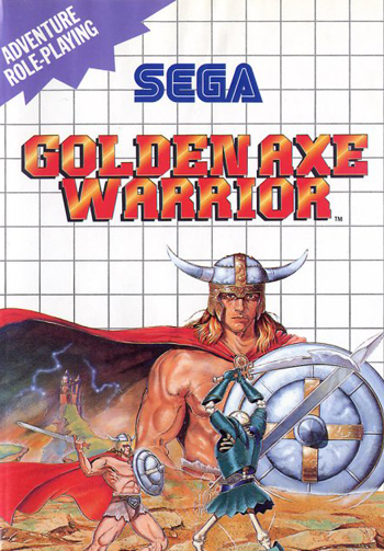 Golden Axe Warrior Sega Master System cover artwork