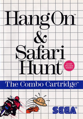 Hang-On & Safari Hunt Sega Master System cover artwork