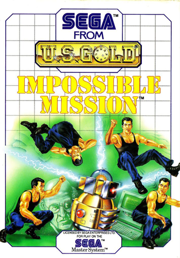 Impossible Mission Sega Master System cover artwork