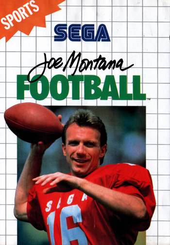 Joe Montana Football Sega Master System cover artwork