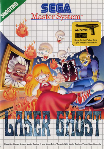 Laser Ghost Sega Master System cover artwork