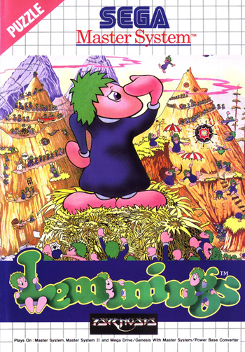 Lemmings Sega Master System cover artwork