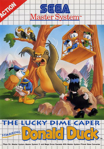 Play Lucky Dime Caper Starring Donald Duck The Sega Master System Online Play Retro Games