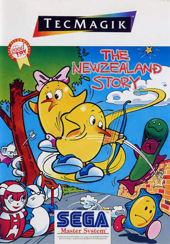New Zealand Story, The Sega Master System cover artwork
