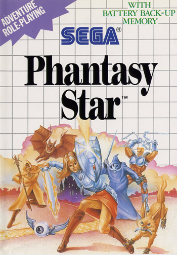 Phantasy Star Sega Master System cover artwork