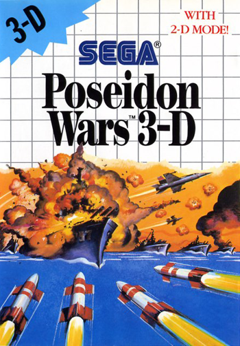 Poseidon Wars 3-D Sega Master System cover artwork