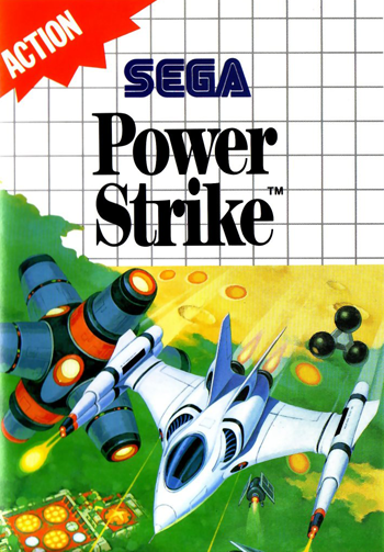 Power Strike Sega Master System cover artwork