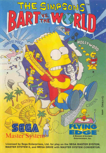Simpsons, The - Bart vs. The World Sega Master System cover artwork