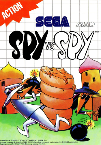 Spy vs. Spy Sega Master System cover artwork