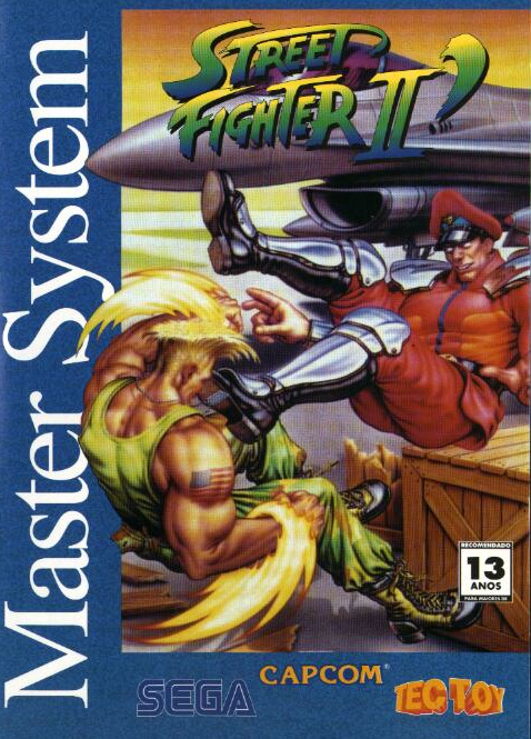Street Fighter 2 Sega Master System cover artwork