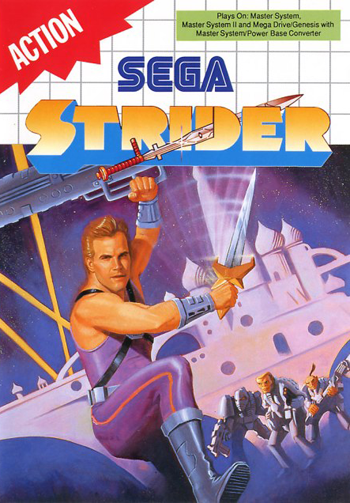 Strider Sega Master System cover artwork