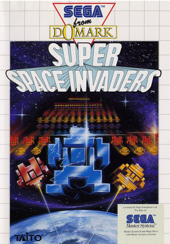 Super Space Invaders Sega Master System cover artwork