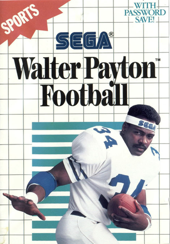 Walter Payton Football Sega Master System cover artwork