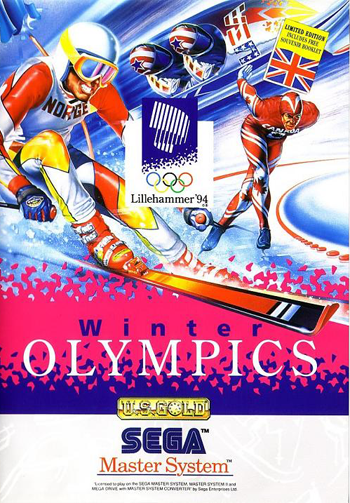 Winter Olympics - Lillehammer '94 Sega Master System cover artwork