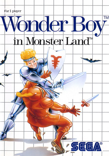 Wonder Boy in Monster Land Sega Master System cover artwork