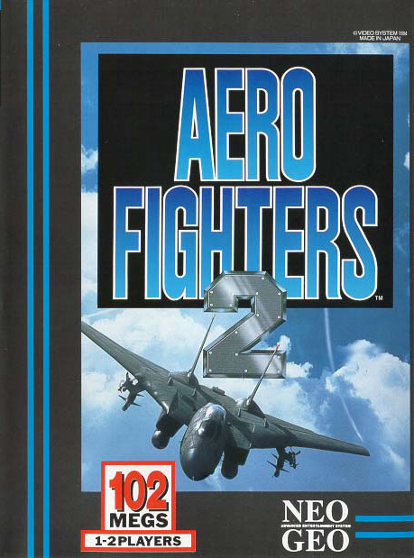 Aero Fighters 2 SNK NEO GEO cover artwork