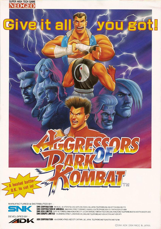 Aggressors of Dark Kombat SNK NEO GEO cover artwork