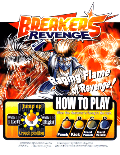 Breakers Revenge SNK NEO GEO cover artwork
