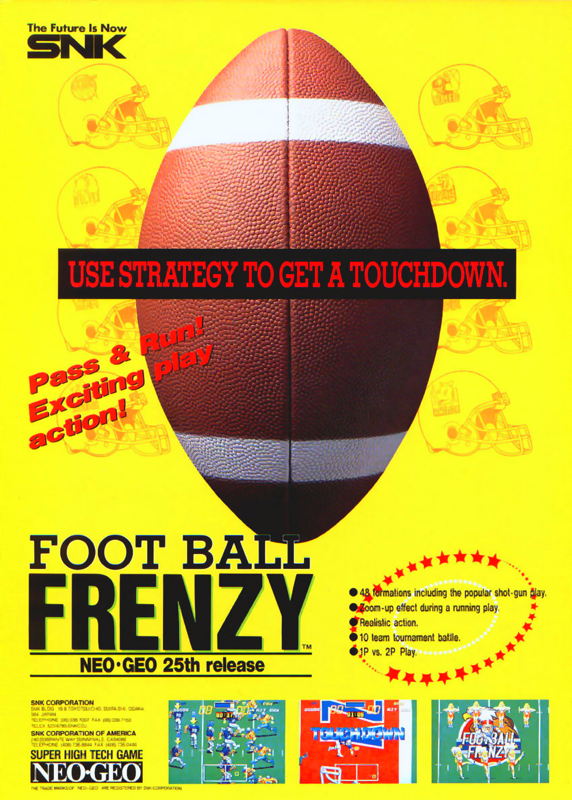 Football Frenzy SNK NEO GEO cover artwork