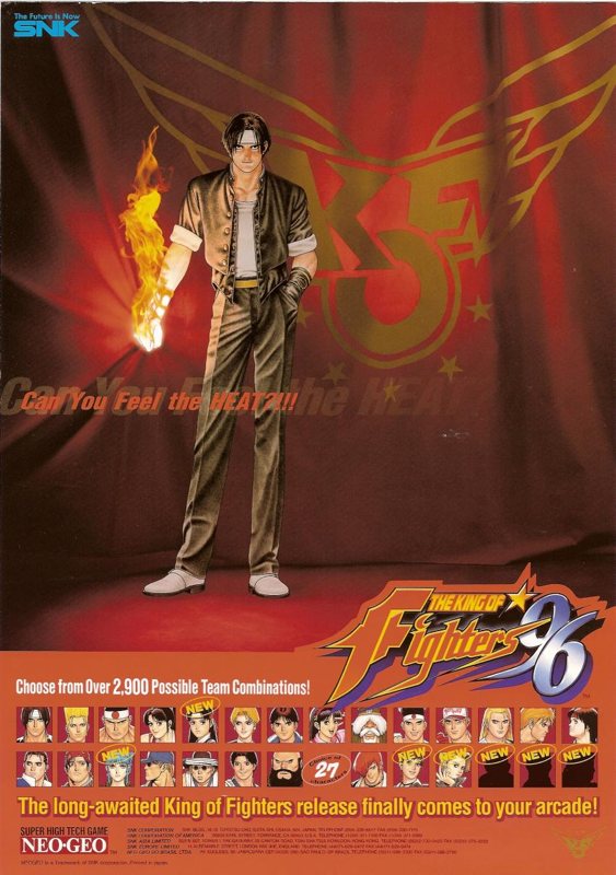 King of Fighters '96, The SNK NEO GEO cover artwork
