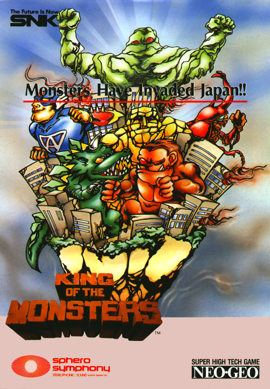 King of the Monsters SNK NEO GEO cover artwork