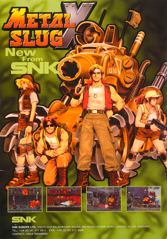 Metal Slug X : Super Vehicle-001 SNK NEO GEO cover artwork