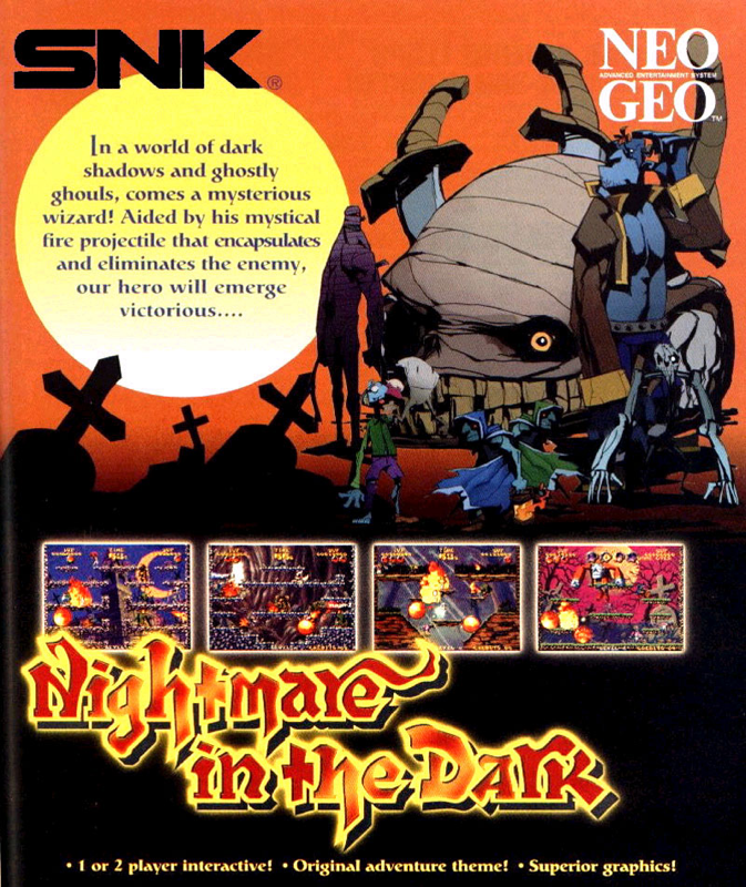 Nightmare in the Dark SNK NEO GEO cover artwork