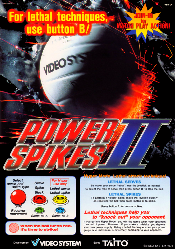 Power Spikes II SNK NEO GEO cover artwork