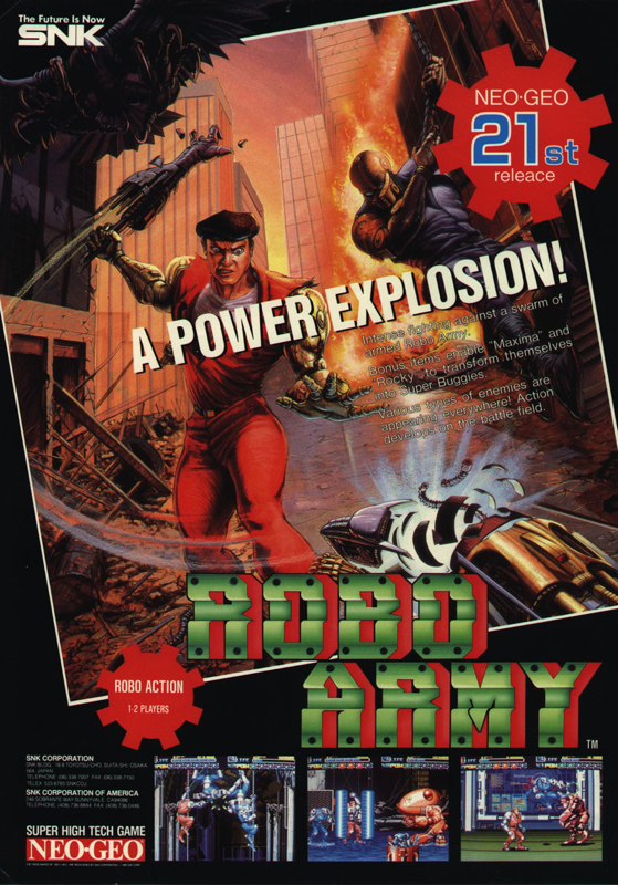Robo Army SNK NEO GEO cover artwork