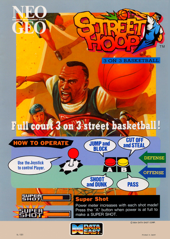 Street Hoop SNK NEO GEO cover artwork