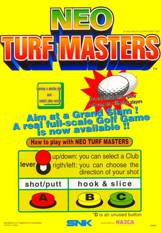 Neo Turf Masters : Big Tournament Golf SNK NEO GEO cover artwork