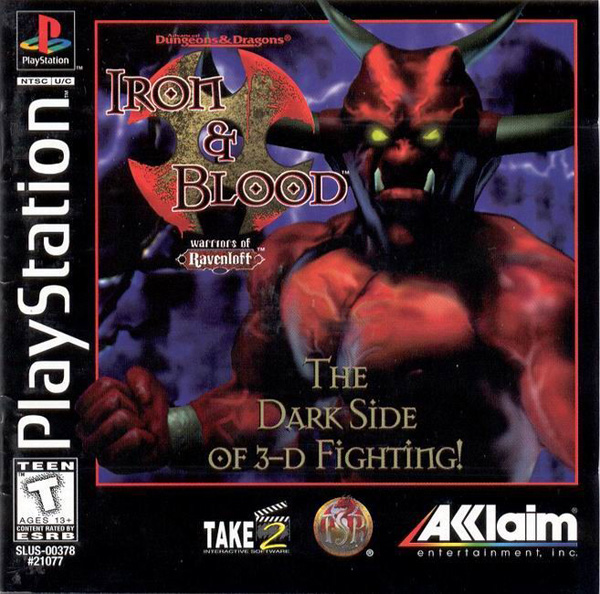 Advanced Dungeons & Dragons - Iron & Blood - Warriors of Ravenloft Sony PlayStation cover artwork