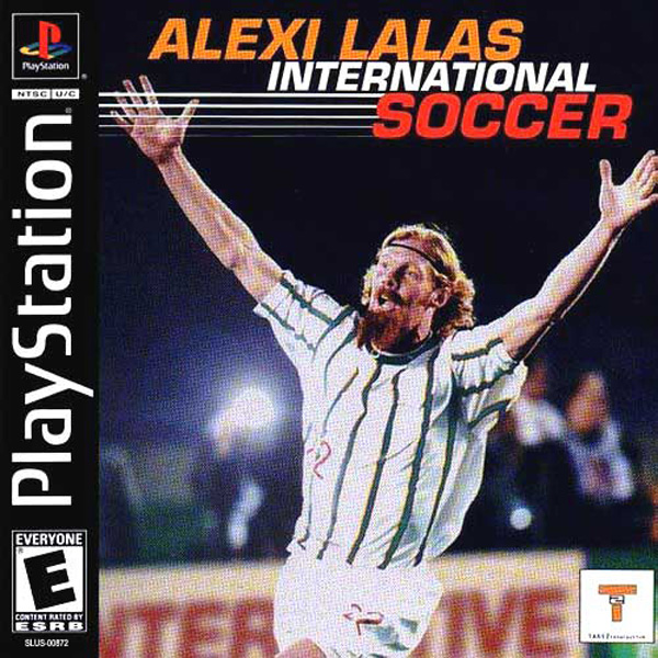 Alexi Lalas International Soccer Sony PlayStation cover artwork