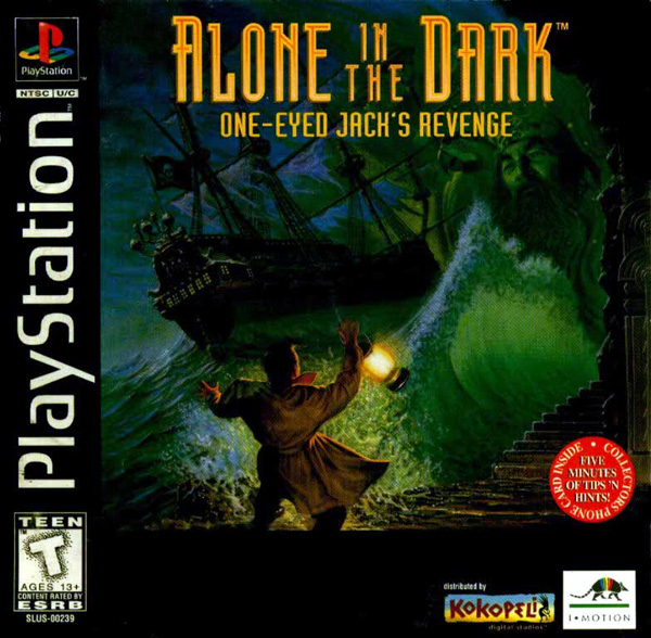 Alone in the Dark - One-Eyed Jack's Revenge Sony PlayStation cover artwork