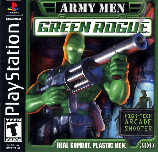 Army Men - Green Rogue Sony PlayStation cover artwork