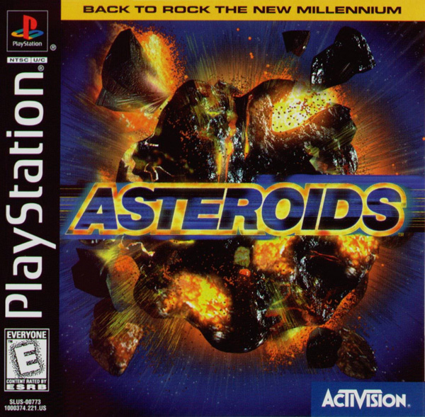 Asteroids Sony PlayStation cover artwork