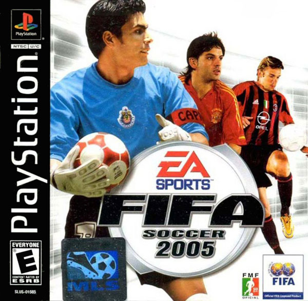 FIFA Soccer 2005 Sony PlayStation cover artwork