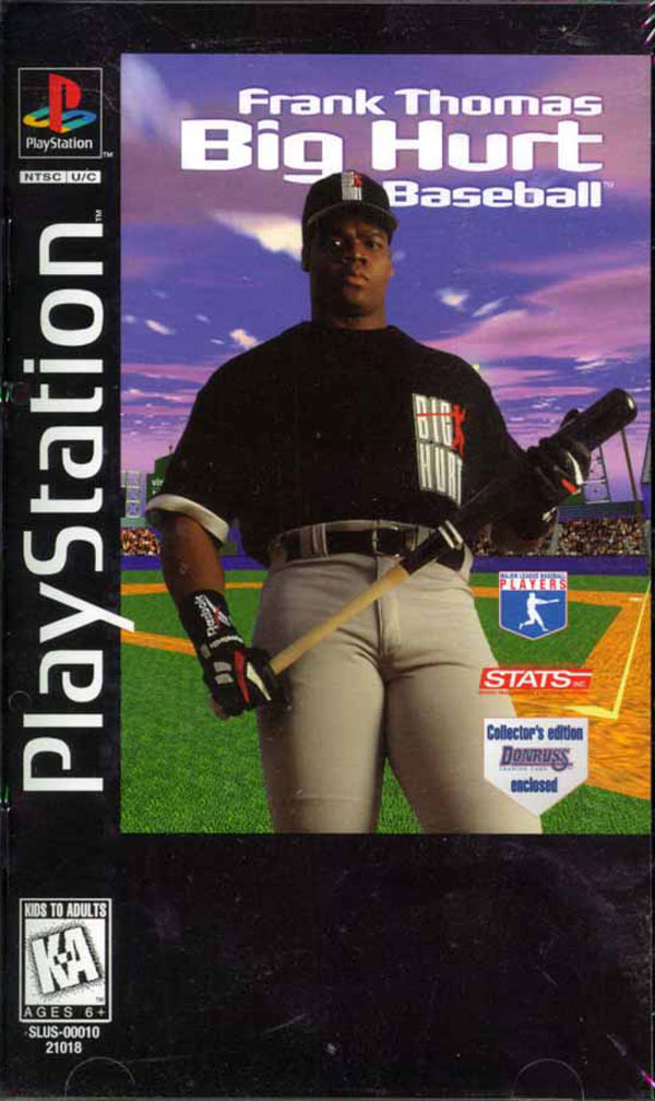 Frank Thomas Big Hurt Baseball Sony PlayStation cover artwork