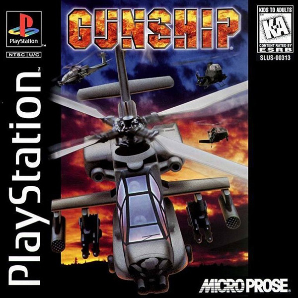 Gunship Sony PlayStation cover artwork