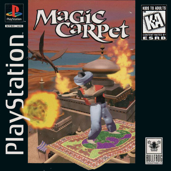 Magic Carpet Sony PlayStation cover artwork