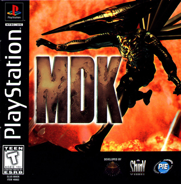 MDK Sony PlayStation cover artwork
