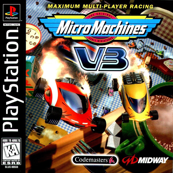 Micro Machines V3 Sony PlayStation cover artwork
