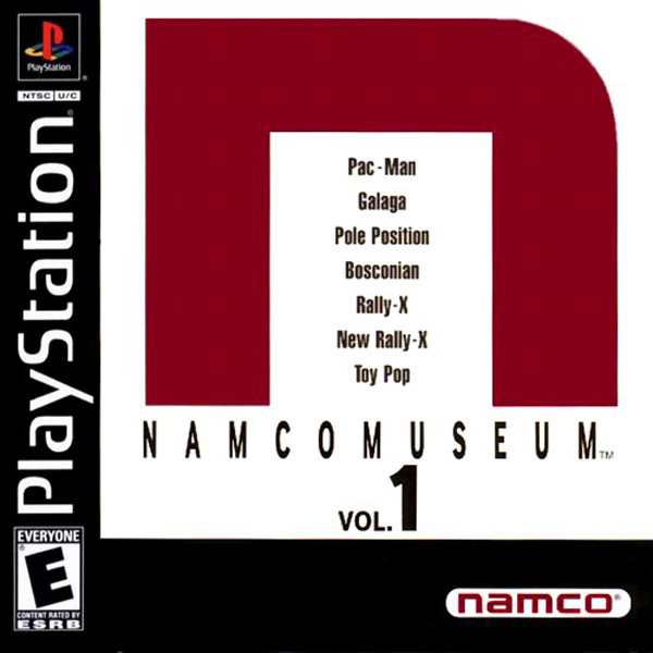Namco Museum Vol. 1 Sony PlayStation cover artwork